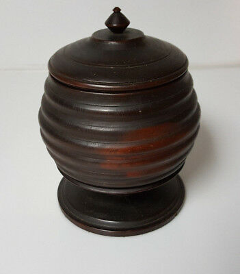 Vintage Tobacco Jar Wood Handmade