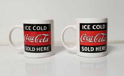 Coca Cola Coke Coffee Tea Mug lot of 2 Ice Cold