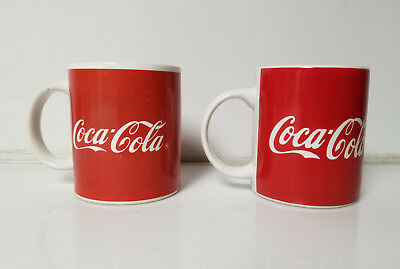 Coca Cola Coke Coffee Tea Mug lot of 2