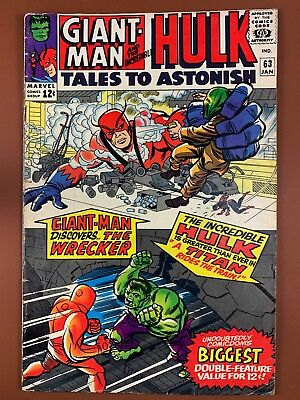 Tales to Astonish #63 (1965 Marvel) Hulk and Giant Man appearance NO RESERVE