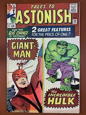 Tales to Astonish #60 (1965 Marvel) Hulk and Giant Man appearance NO RESERVE