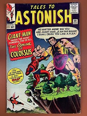 Tales to Astonish #58 (1964 Marvel) Wasp and Giant Man appearance NO RESERVE