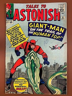 Tales to Astonish #55 (1964 Marvel) Giant Man and Wasp appearance NO RESERVE