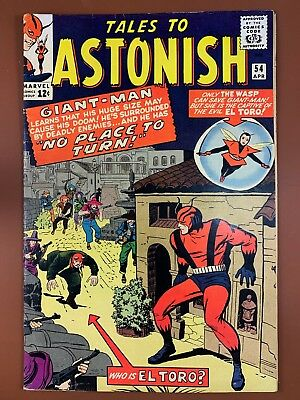 Tales to Astonish #54 (1964 Marvel) Giant Man and Wasp appearance NO RESERVE