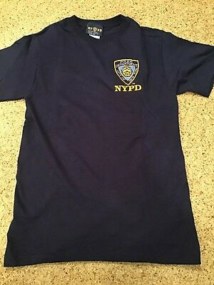 Adult Size Small NYPD City of New York Police Department Navy Blue T-Shirt