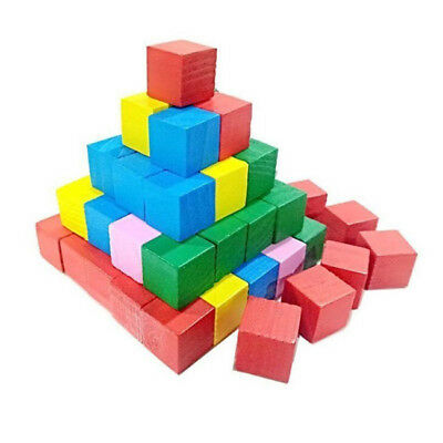 20Pcs Wood Square Block Cube Puzzle Brain Teaser Educational Toys SA