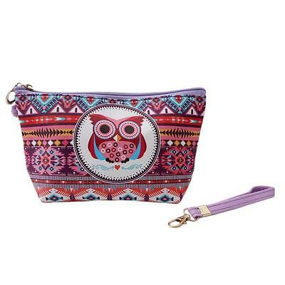 Cute Owl Cosmetic Makeup Bag Phone Key Case Coin Pouch Wallet Purse Shan