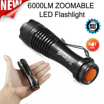 2000LM CREE Q5 AA/14500 Super Bright Flashlight 3Mode ZOOM LED MINI Police Torch