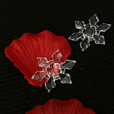 20pcs Christmas Snowflake Transparent Gold Color Pendant Home Tree Supply Shan