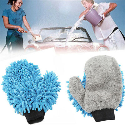 Soft Car Washing Glove -Cleaning Dusting Microfiber Mitt -Use Wet or Dry Shan