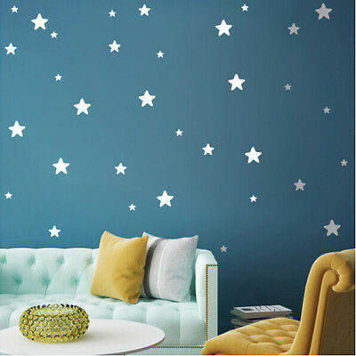 Stars Wall Stickers Removable Wall Decals Baby Kids Nursery Room Decor SA