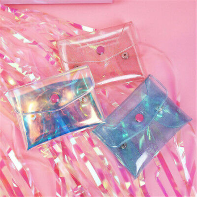 Hologram Holographic Coin Cosmetic Bag Transparent Jelly Coin Purse Girl Shan