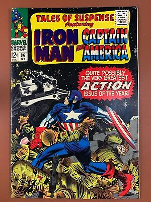 Tales of Suspense #86 Marvel Comics Iron Man and Captain America appearance