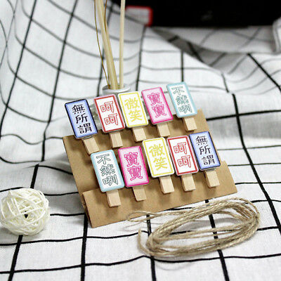Exquisite DIY Photo Message Storage Clip with Rope Handmade Decor Craft Shan