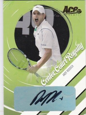 Andy Roddick Autograph Signature numbered just #001/025!! Tennis Ace CCR-7
