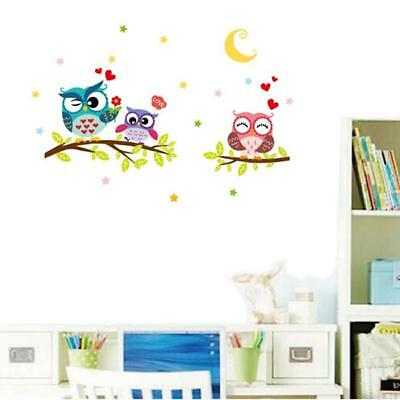 Removable Owls on the Tree Branches Butterfly Wall Sticker Decor Nursery Decal