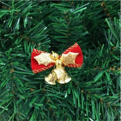6X Christmas Tree Bow Decoration Baubles XMAS Party Garden Bows Ornament Shan