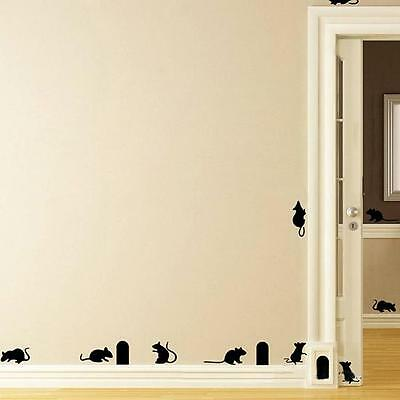 Art Home Decor Mouse Cave  Stairs Wall Sticker Living Room Background shan