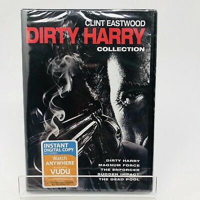 New Sealed 5 Film Collection: Dirty Harry (DVD, 2015, 5-Disc Set)  No Digital