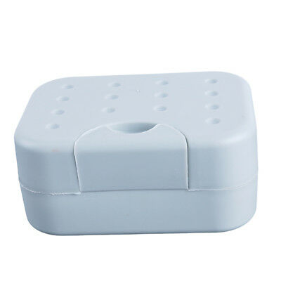 Bathroom and Shower Soap Dish Holder Tray with Cover Lid for Traveling Shan
