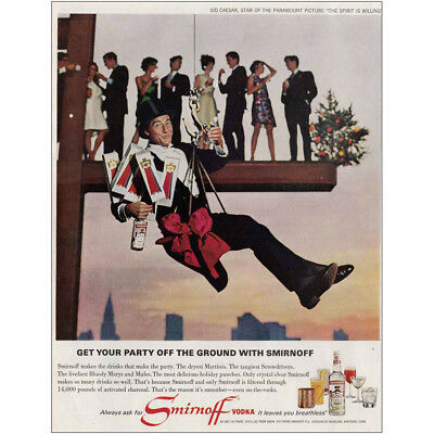 1966 Smirnoff Vodka: Get Your Party Off the Ground Vintage Print Ad