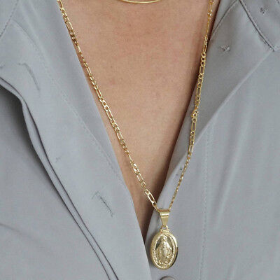 Maria the Virgin Mary Christian Jewelry St Benedict Medal Necklace Pendant Shan