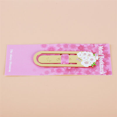Chic Book Marker Bookmark Metal Cherry Blossom Shape Bookmarks Gifts Shan