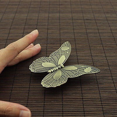 Vintage Art Simulation Butterfly Handle Drawer Wardrobe Cabinet Door Knobs Pulls