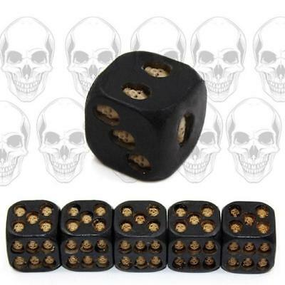 5Pcs/Set Resin Material 6-Sided Skull Dice Party Entertainment And Leisure Toy A