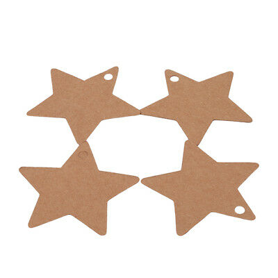 100Pcs Party Card Gift Bookmark Pentagram Label Luggage Tags SA