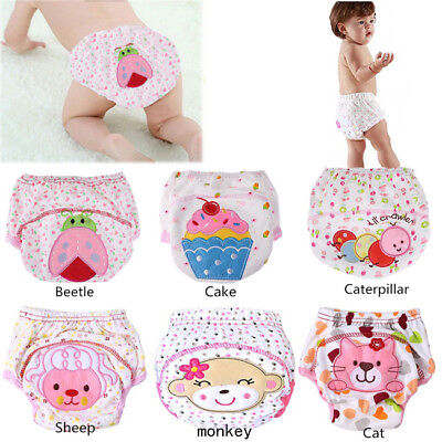Reusable Animal Baby Kids Training Cotton Breathable Diaper Nappies Shan