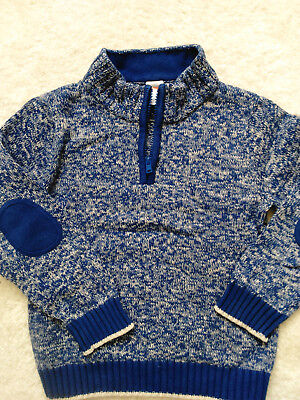 gymboree boy pullover sweater jacket top 100% cotton blue size 5T