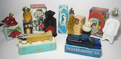 VTG Avon LOT Perfumes NIB Captains Lantern Sitting Pretty Baby owl dachsund