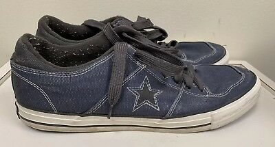 Converse One Star OX Canvas Shoes: Blue/Gray- Mens Size 12