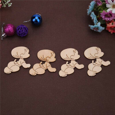 10pcs Baby Shaped Wooden Chips Handmade Wedding Engagement Favor Supplies Shan
