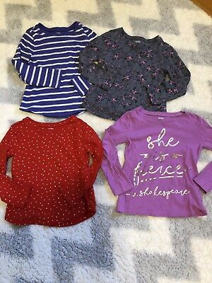 Lot Of 4 Old Navy Long Sleeve Shirts Toddler Girl 4T
