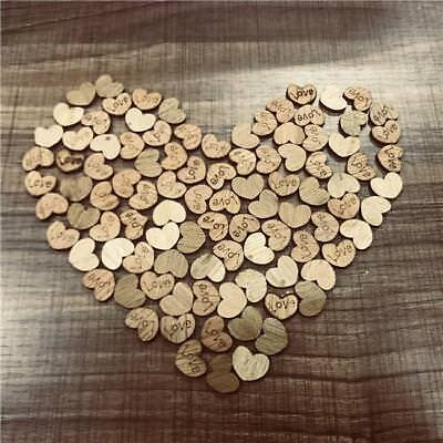 100PCS Set Wooden Wood Love Heart Wedding Table Scatter Decoration Crafts HOT SA