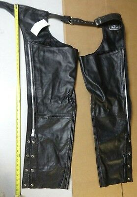 Cycle Leather Chaps XL Motorcycle Riding Gear   CLM830BM 7dayNR Auction