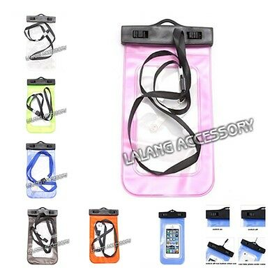 PVC Clear Waterproof Underwater Cellphone Protect Dry Bag Pouch shan