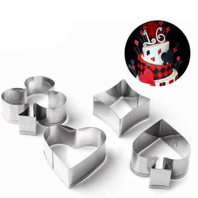 Cards Suits Poker Cookie Cutter Specialty Set Multi-Color Metal 4 Pcs/Set SS