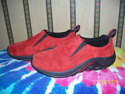 Merrell Red Suede Moc Loafers Size 9.5 M