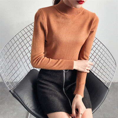 Autumn Winter Women's Pullover Knitted Long Sleeve Sweater Casual  Top shan