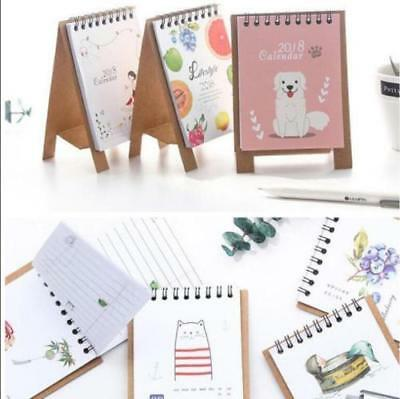 2018 Fresh Style DIY Cartoon Mini Desktop Paper Calendar Daily shan