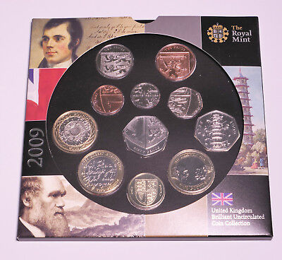 2009 UK Royal Mint Coin Set with 50p Kew Gardens Coin