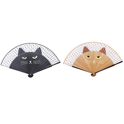 Cartoon Cat Folding Fan Handheld Hand Folding Fans For Wedding Party Gifts Shan