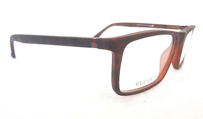 GUCCI Men's Frame Glasses GG1093 Havana 55-16-140 MADE IN ITALY - New!