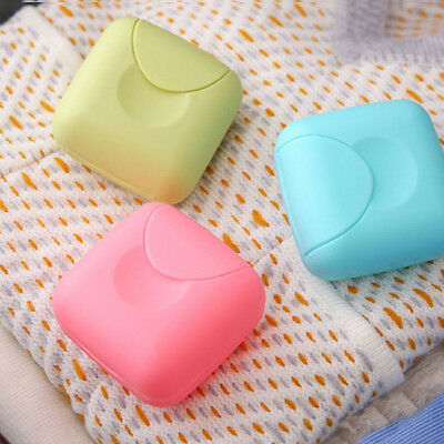 Travel Candy Color Soap Box Dish Case Holder Container With Buckle Cover Shan