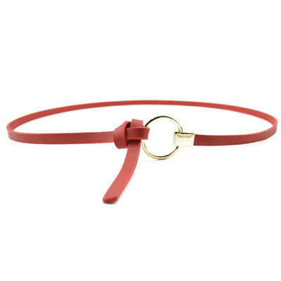 Faux Leather Belts Women Round Metal Circle Thin Waistband Girdle Find Belt Shan