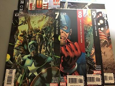The Ultimates #7-10, 14, 17, 28 & New Ultimates. E. Excellent Condition!