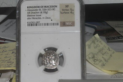 Alexander the Great (III) Silver Drachm Rare Lifetime Issue 336-323 B.C.